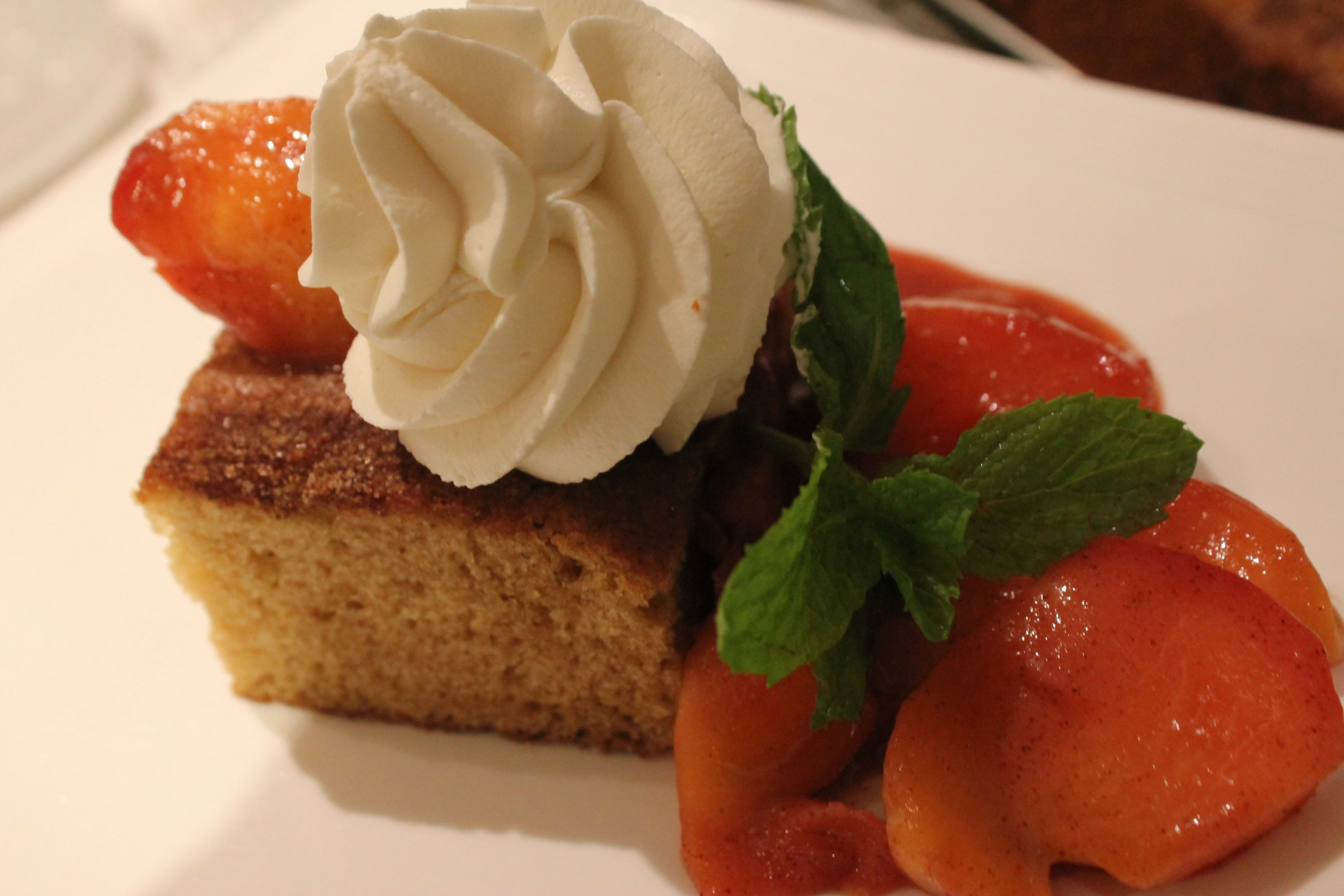 Summer Spiced Cake with Sautéed Peaches