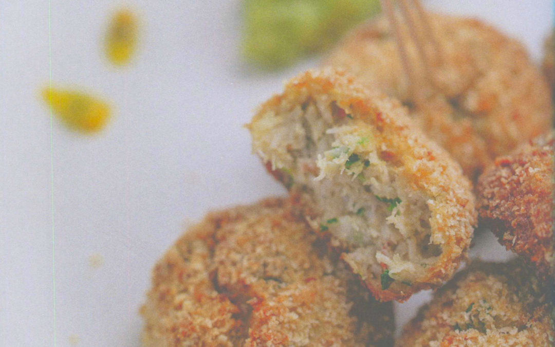 Crab Croquettes and Spicy Avocado with Passion Fruit from Simple Nature by Alain Ducasse