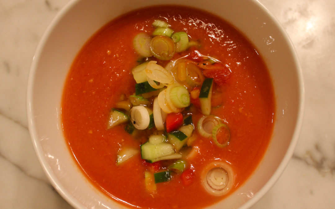 Just Perfect Gazpacho from The Daily Soup Cookbook