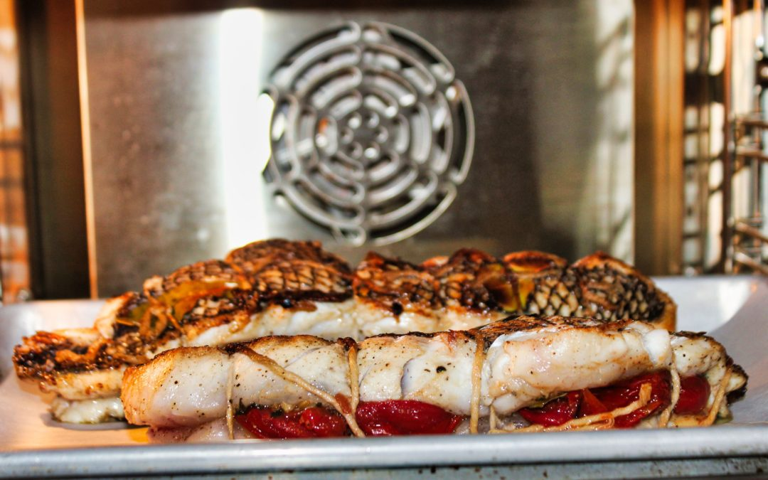 Seared Sea Bass in the Jenn-Air® Steam and Convection Oven