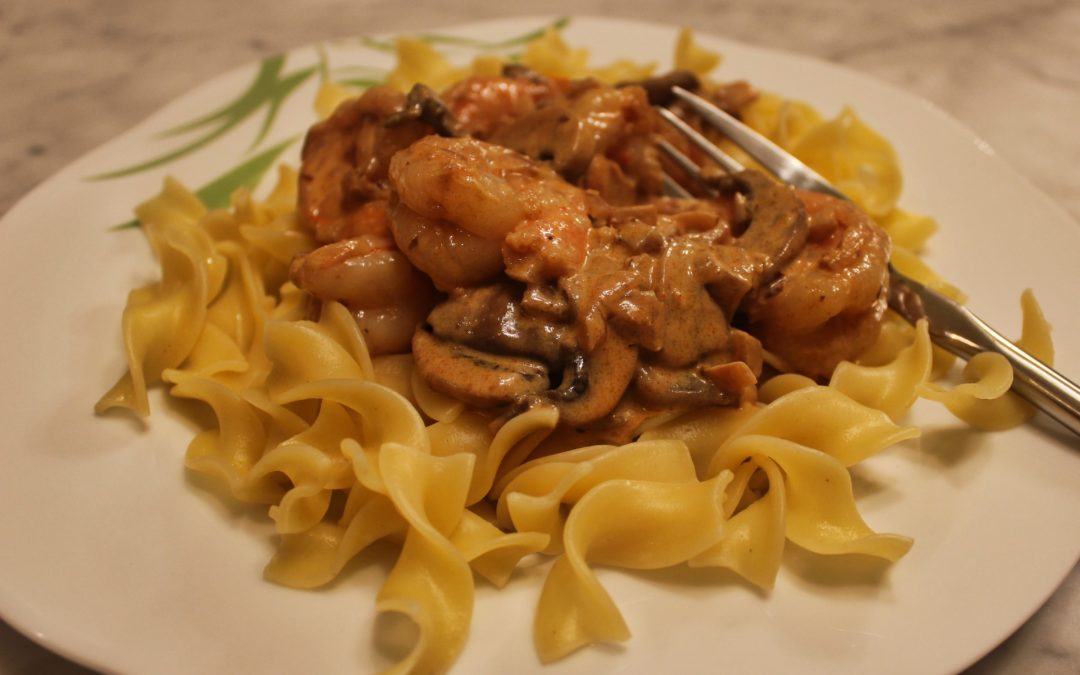 Mushroom and Shrimp Paprikash
