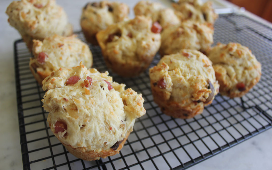Ham and Mushroom Muffins [and Cheddar Cheese, too!]