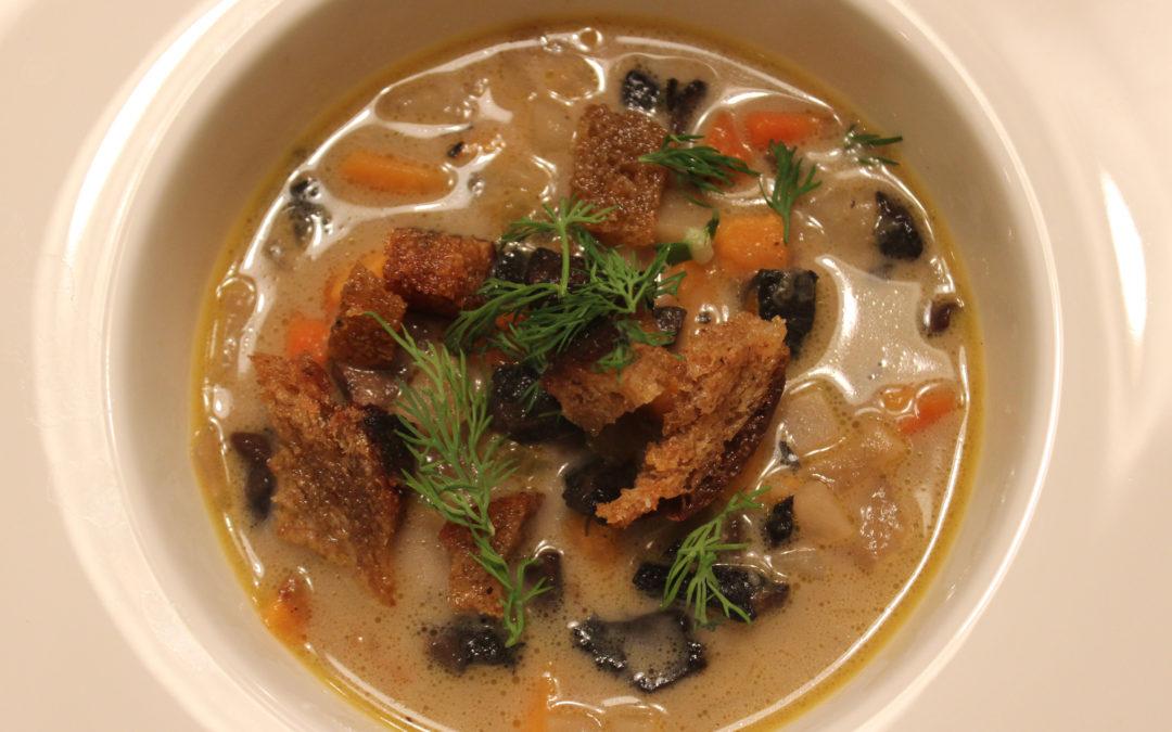 Russian Mushroom and Potato Soup
