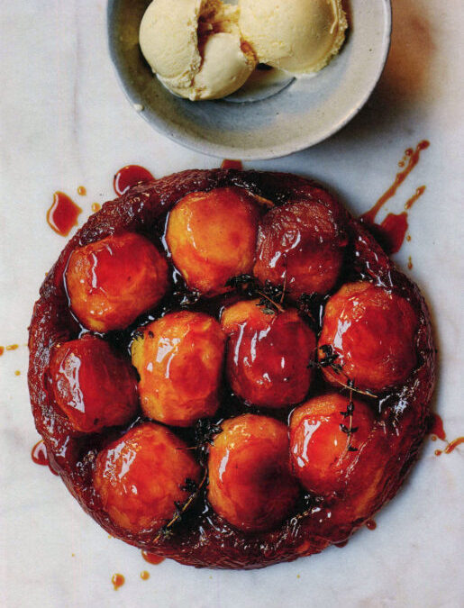 Apple Tatin with Salted Honey Ice Cream from Darina Allen