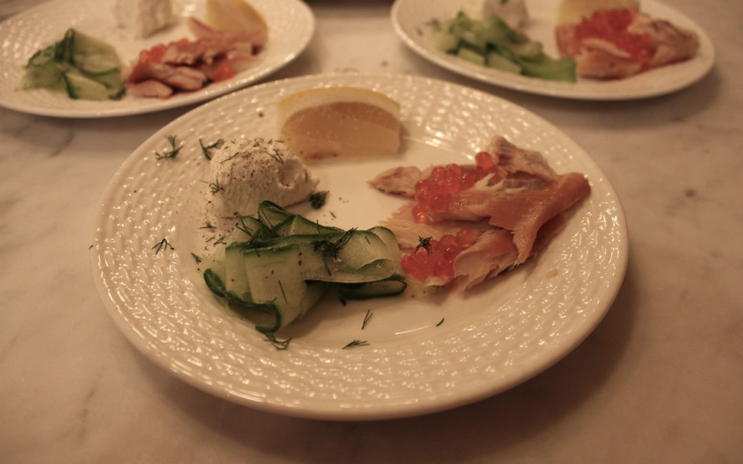 Smoked Trout, Cucumber and Horseradish Cream Salad from Darina Allen