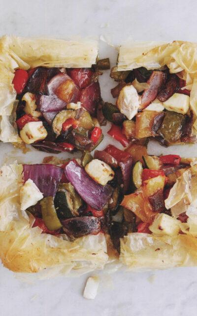 Thanksgiving Side Dish: Filo Tart with Mediterranean Veggies from Michel Roux Cheese