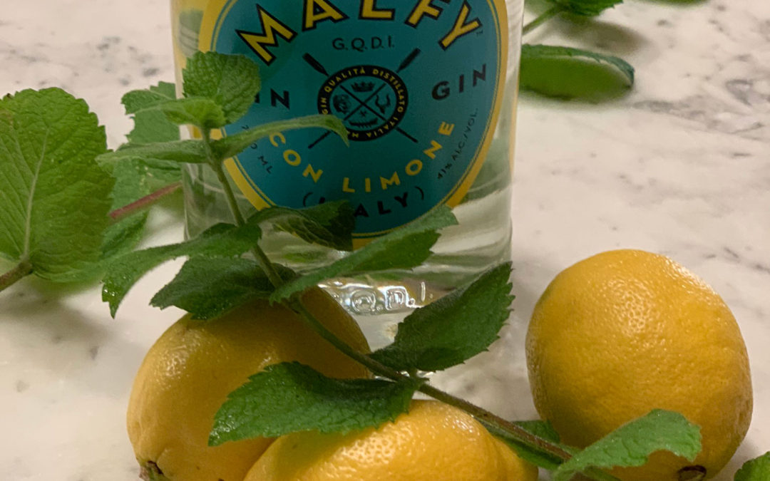 Double Lemon and Mint Gimlet with Malfy Con Limone