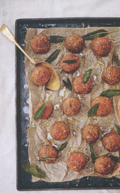 The Virus Cookbook: Lentil and Mushroom Meatballs