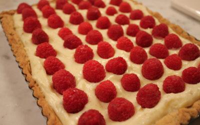 Raspberry Tart with a Pistachio Crust