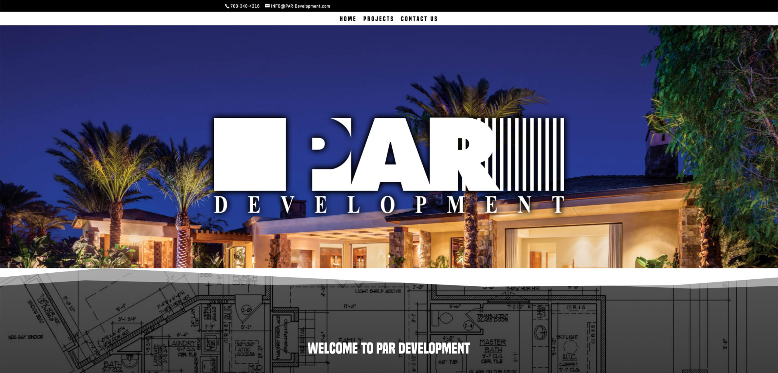 custom website design for par development by kaminsky productions