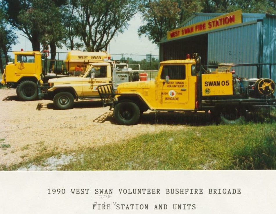 West Swan Volunteer Bush Fire Brigade fleet 1990