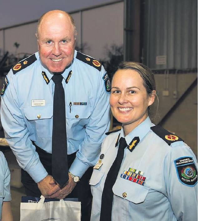 DFES Commissioner Darren Klemm with Amanda Williamson at the SWORD launch in November.