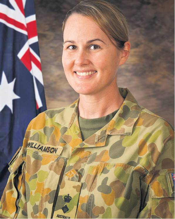 Amanda Williamson, who resigned from DFES, in her army uniform