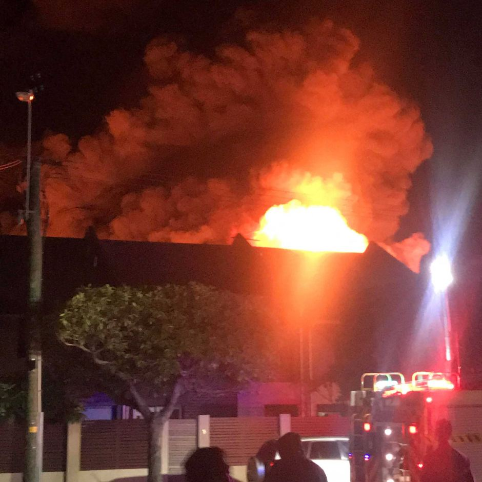 Bunnings fire prompts chemical scare. Photo: Maddy Carville