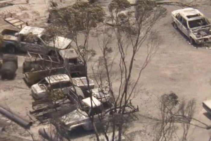 PHOTO: Farming properties were damaged in the blaze. (ABC News)