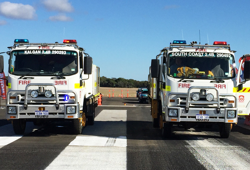 Racewars 2018 - Kalgan VBFB and South Coast VBFB line up for the Emergency Services Race
