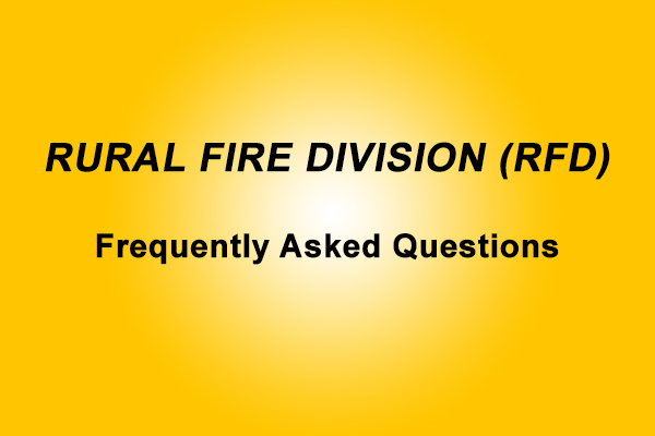 Who else works for the Rural Fire Division?