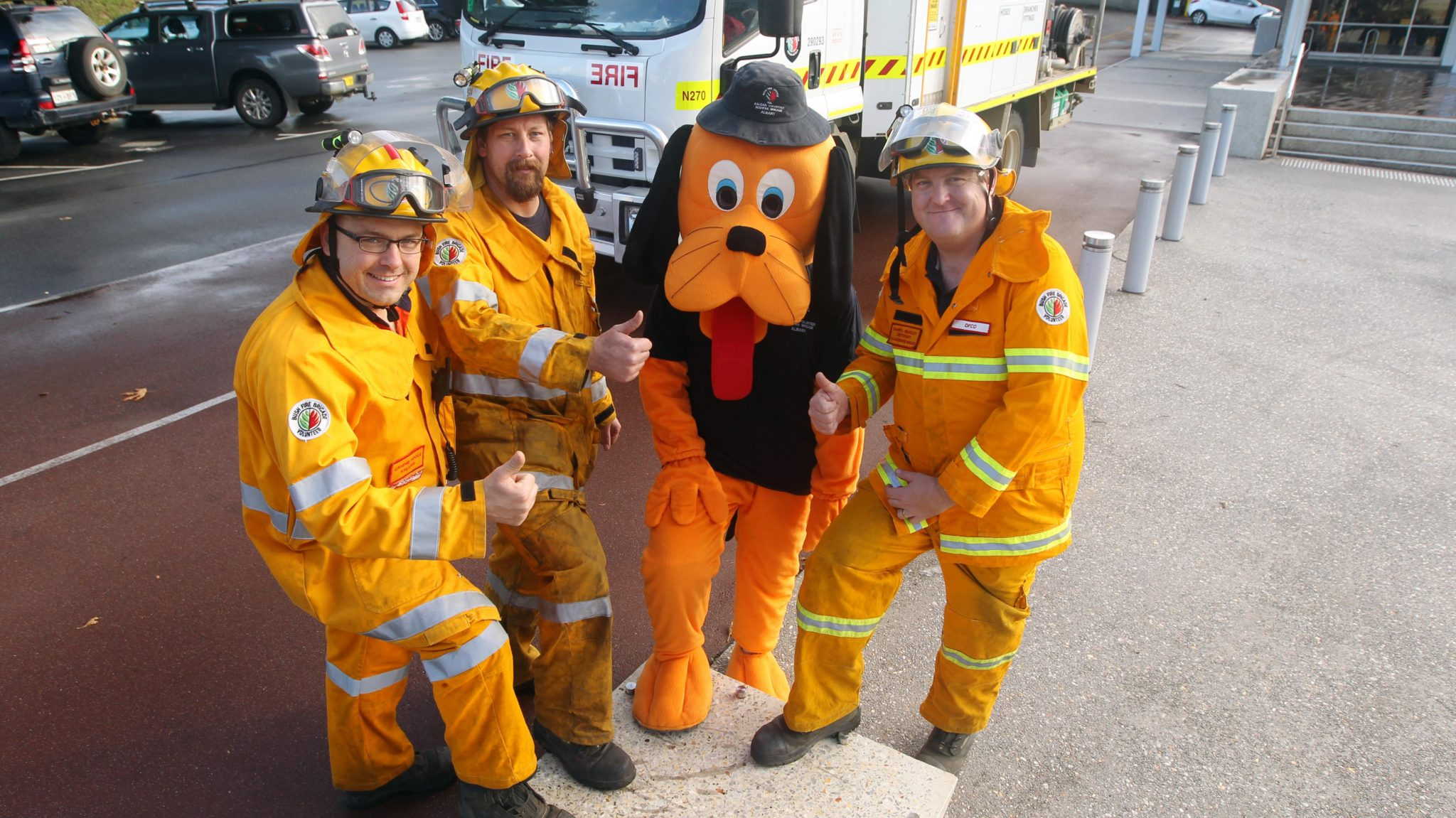 Kalgan Bushfire Brigade's Graeme Poole, Kevin Bransby and Darryl Bradley.Picture: Picture: Laurie Benson, Laurie Benson Albany Advertiser