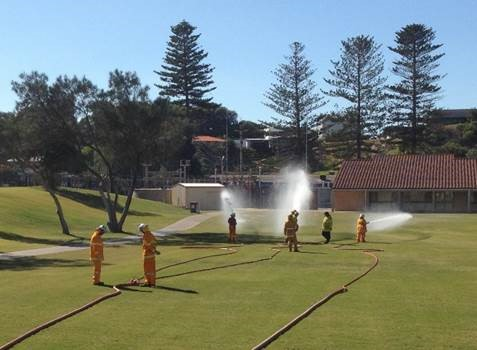 Volunteer bush fire fighters learn the skills required to put out bush fires - City of Greater Geraldton
