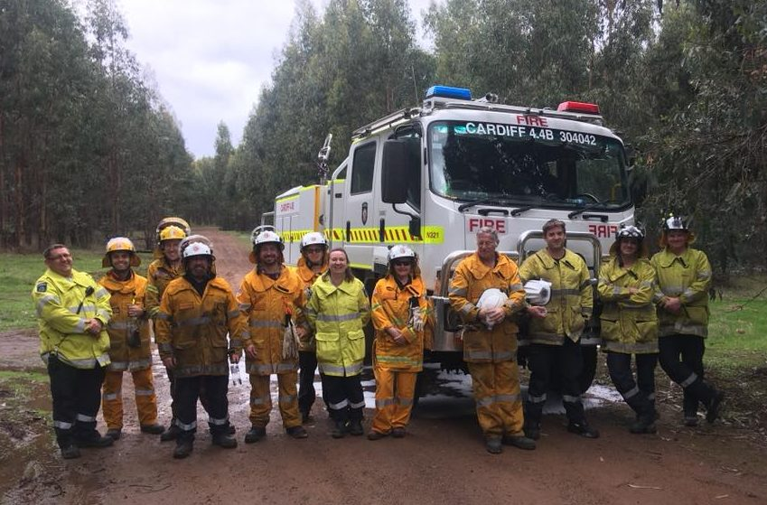 Volunteers from Collieburn-Cardiff BFB, Allanson BFB, Collie Preston BFB, Bunbury BFB, Bunbury VRFS, Dardanup BFB, and Wellington Mills BFB, Machine Supervision and Plantation Firefighting Training courses on Saturday and Sunday at Allanson BFB Station.