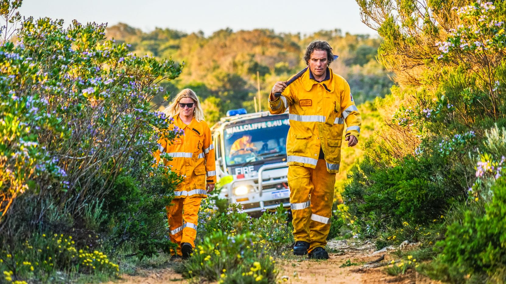 Wallcliffe Volunteer Fire Brigade say fuel loads near Prevelly and Gnarabup are at a similar level to 2011, before the devastating bushfire that destroyed 39 homes.Picture: Picture: Sean Blocksidge/Wallcliffe Volunteer Fire Brigade, Sean Blocksidge/Wallcliffe Volunteer Fire Brigade.