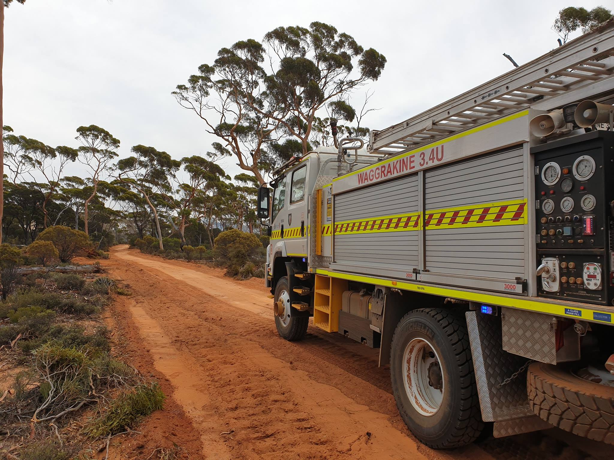 Waggrakine Volunteer Bushfire Brigade appliance in Norseman Western Australia March 2019