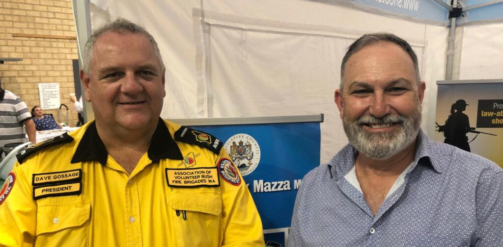 AVBFB President Dave Gossage and Hon Rick Mazza MLC at Wagin Woolarama 9 March 2019