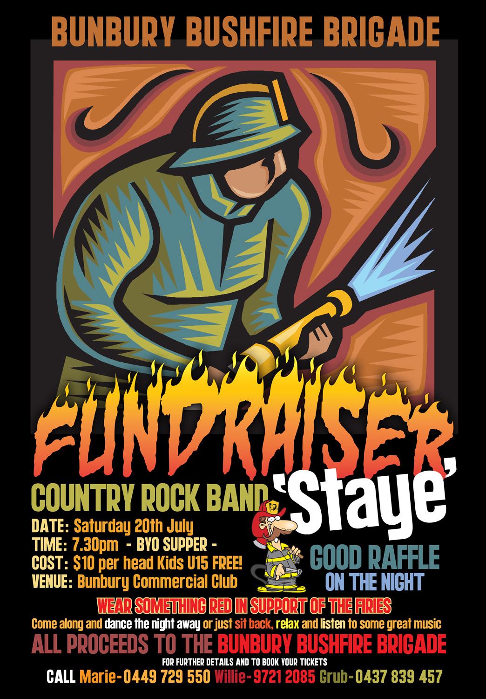 Bunbury BFB Fundraiser flier