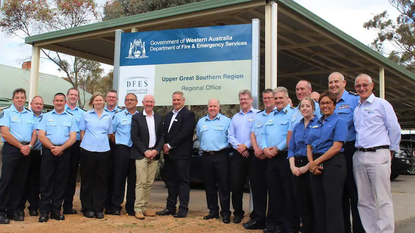 Upper Great Southern DFES centre's official opening attendees.Picture: Daryna Zadvirna