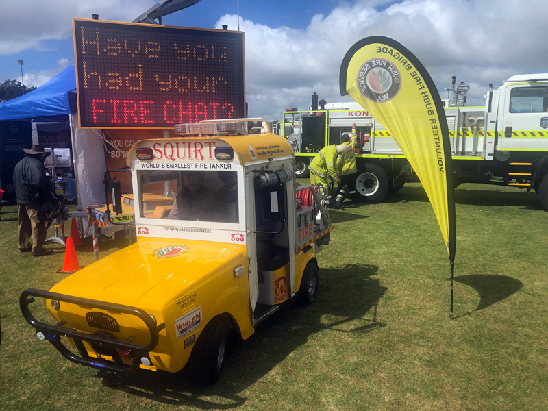 Bushfire Volunteers' Squirt the world's smallest fire tanker at the Newdegate Machinery Field Days 2019