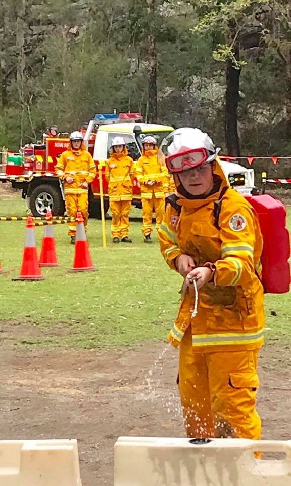 Bunbury Volunteer Bush Fire Cadets and Waggrakine Volunteer Bush Fire Cadets at Australian Fire Cadet Championships in NSW 02-10-2019