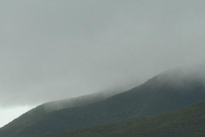 PHOTO: Rescuers on Bluff Knoll often face heavy rain and freezing conditions. (ABC News: Mark Bennett)