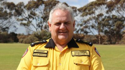 WA Volunteer Bushfire Brigade president Dave Gossage.. Photo Farm Weekly