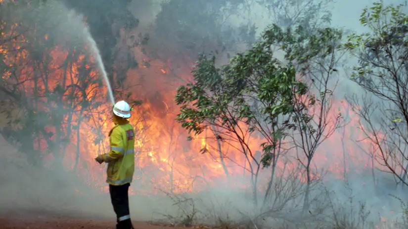 One of the 309 bush fires that broke out across the Kimberley in 2013. Credit: Department of Fire and Emergency Services