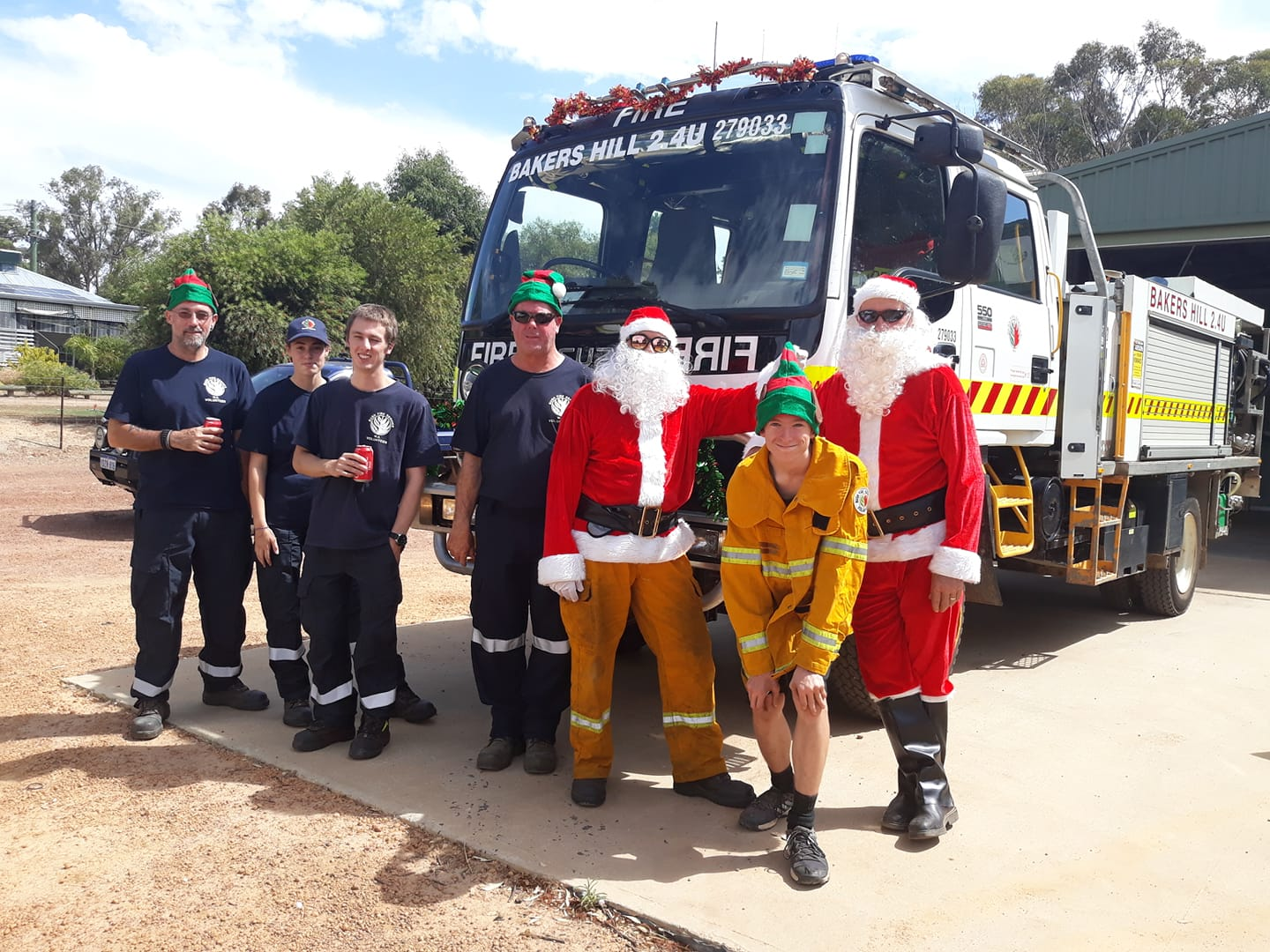 Bakers Hill Volunteer Bush Fire Brigade Christmas 2019