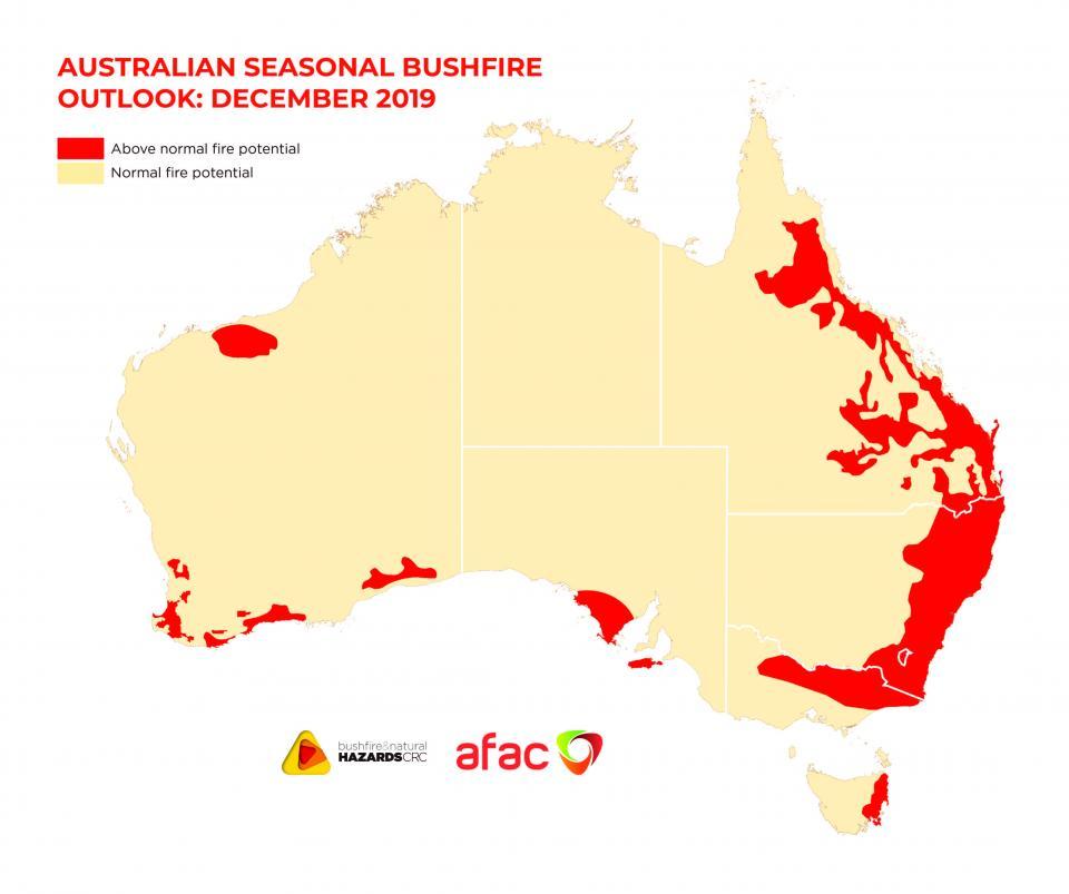 BNHCRC: Australian Seasonal Bushfire Outlook: December 2019