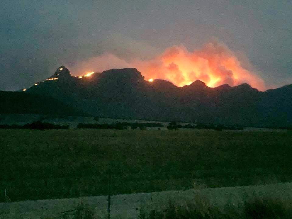 Stirling Range National Park fire 2020 Picture: Facebook/Brett Page