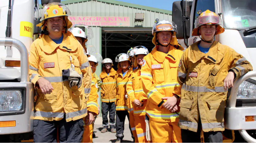 There was a good turnout of new and serving members at the training day for the Waggrakine Volunteer Bushfire Brigade on Sunday. Credit: Peter Sweeney