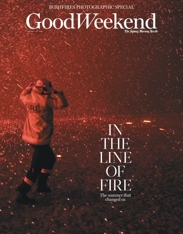 The cover of Good Weekend from Jan 25 with the image shot by Nick Moir