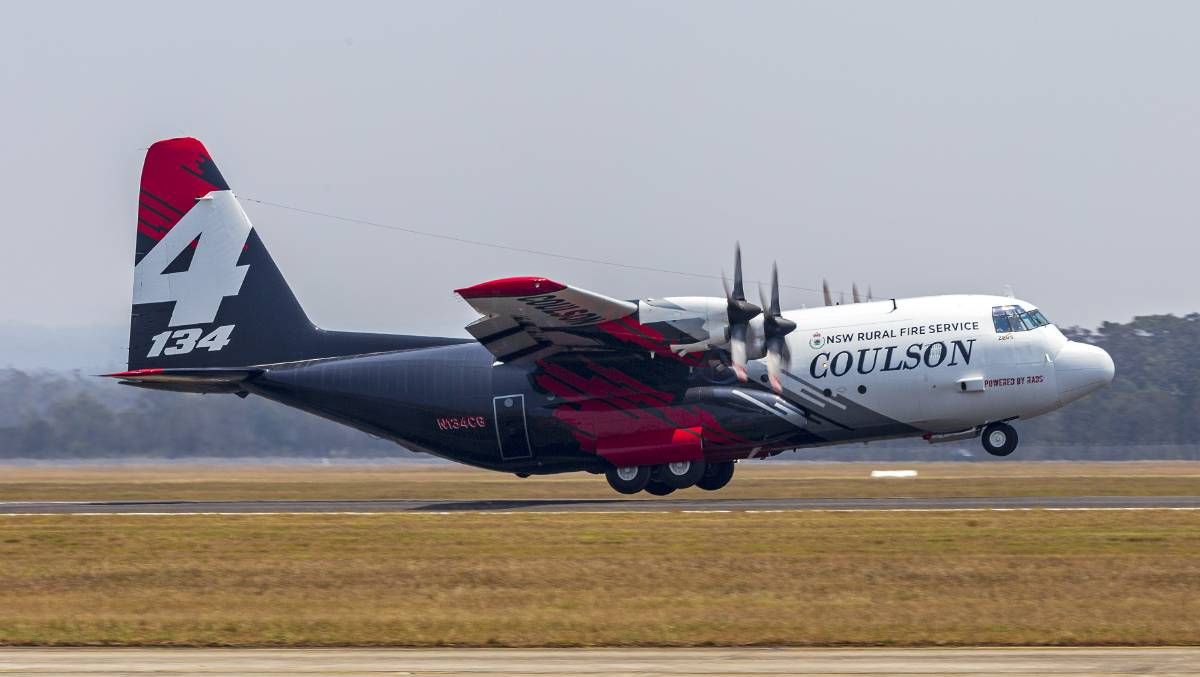 The Coulson Aviation Lockheed EC-130Q Hercules N134CG 'Zeus' that crashed on January 23, pictured here at HMAS Albatross in December 2019. Picture: Bidgee, licensed under Creative Commons 3.0