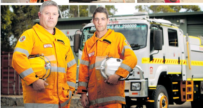 Bunbury Volunteer Bushfire Brigade lieutenant Nick Mellowship and firefighter Nathan Sharpe. Photo: South Western Times