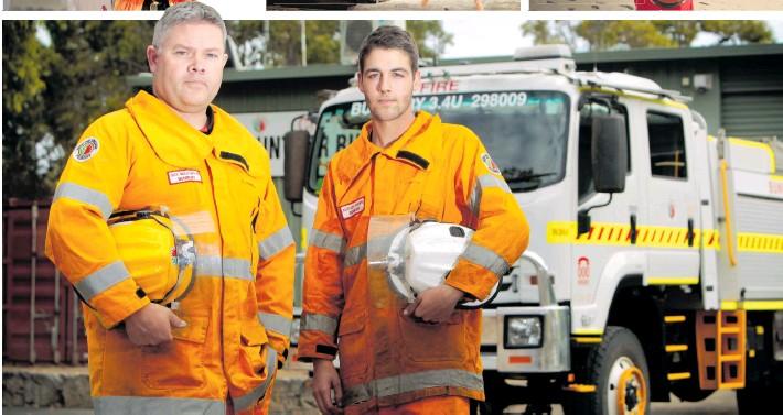 Bunbury Volunteer Bushfire Brigade lieutenant Nick Mellowship and firefighter Nathan Sharpe. Photo: South Western Times