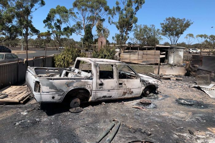 PHOTO: Machinery, sheds and infrastructure were among the items reported to have been destroyed. (ABC News: John Dobson)