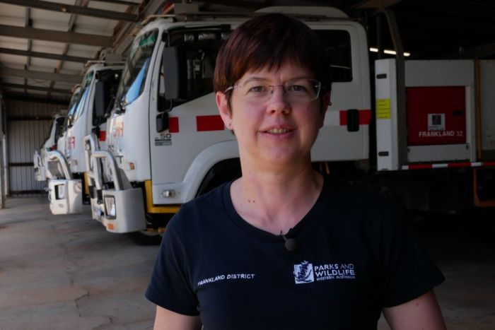 PHOTO: Nikki Rouse says there's no time to slack off when you're in the tower. (ABC South West WA: Mark Bennett)
