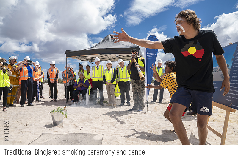 DFES: Smoking ceremony and turning of the sod prepares Centre of Excellence site