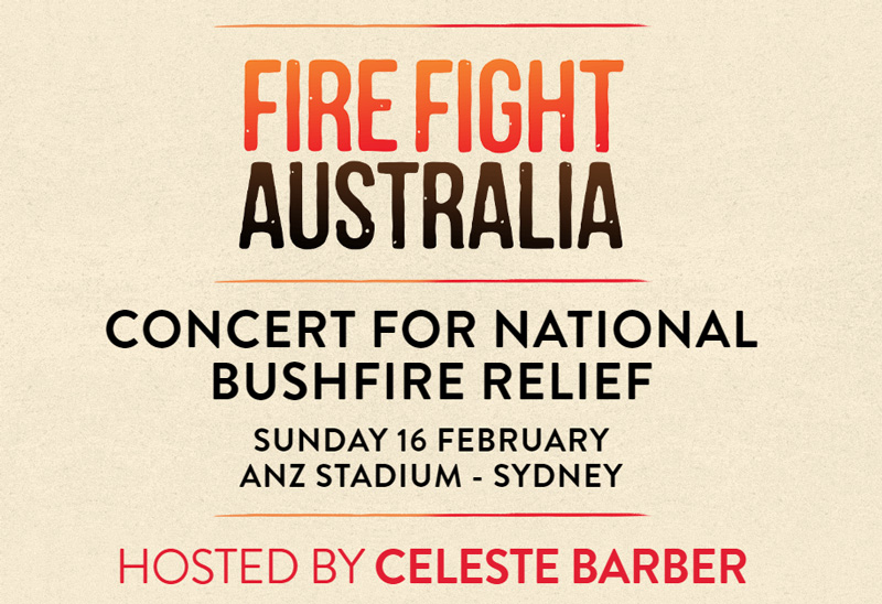 Fire Fight Australia concert for national bushfire relief