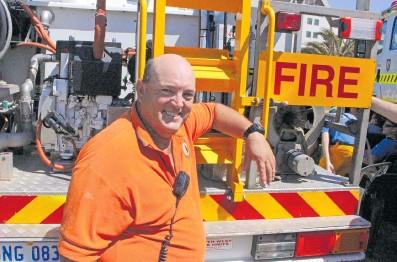 Cape Burney volunteer bushfire brigade Capt. Rob Roffey. Photo: Geraldton Guardian