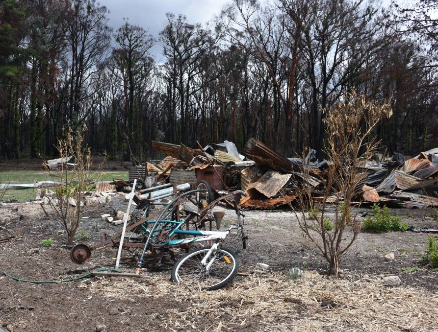 Torrington was still in ruins months on from last year's bushfires. Photo: Glen Innes Examiner