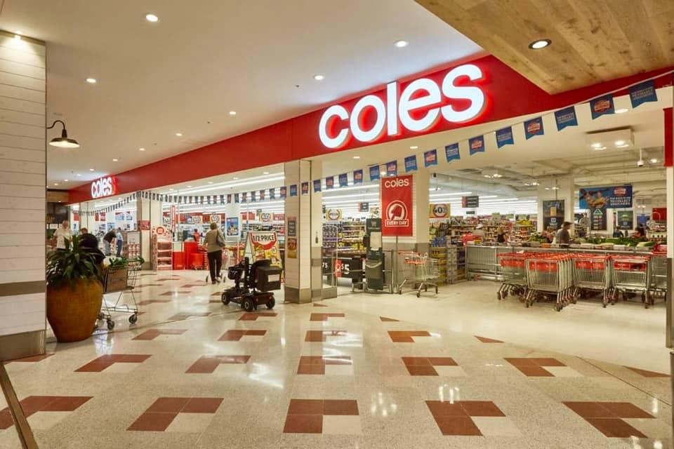 Coles Supermarket. Photo Roelands/Olive Hill Combined Volunteer Bush Fire Brigade