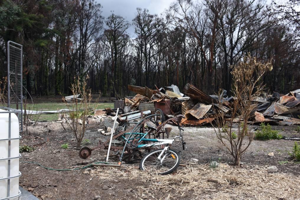 Some of the ruins of Torrington. Hundreds of homes were destroyed in bushfires last year, leaving dozens homeless. Picture: Glen Innes Examiner